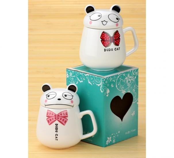 Фото - Чашка Кот с бантом  купить в киеве на подарок, цена, отзывы