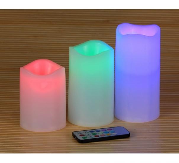 Фото - LED свечи набор из 3 шт. купить в киеве на подарок, цена, отзывы