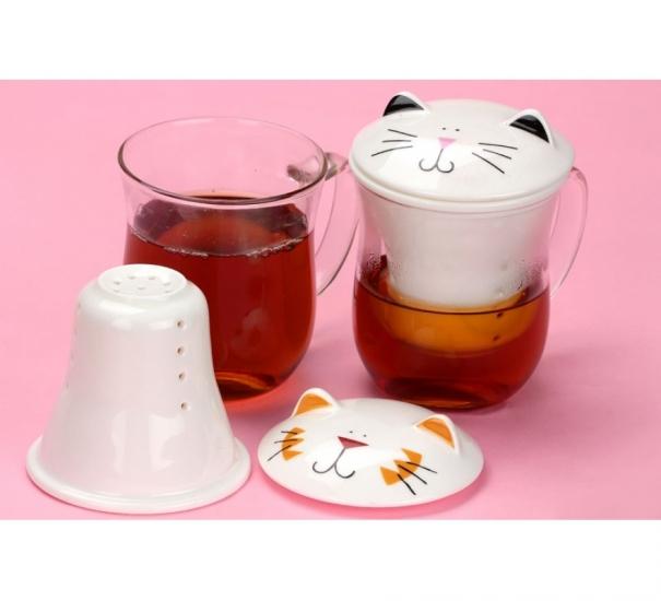 Фото - Заварочная чашка Котик купить в киеве на подарок, цена, отзывы