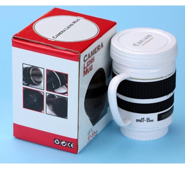 Фото - Кружка термос-объектив белая купить в киеве на подарок, цена, отзывы