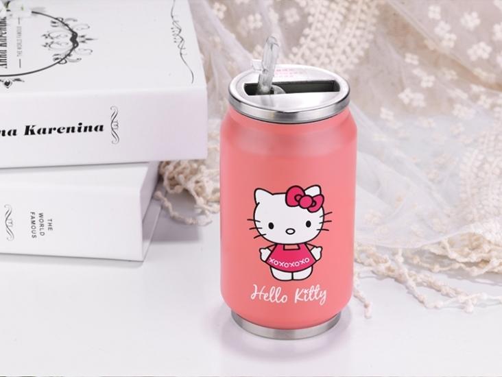 Фото - Термос с клапаном и трубочкой Hello Kitty купить в киеве на подарок, цена, отзывы