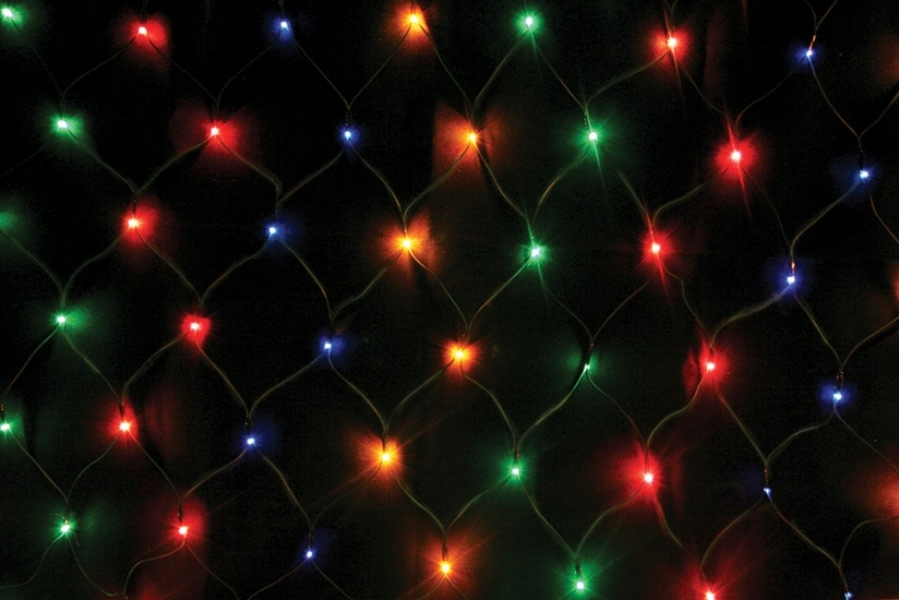 Фото - Гирлянда сетка 240 LED мультиколор купить в киеве на подарок, цена, отзывы