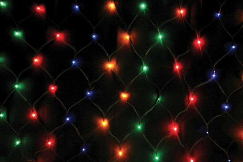 Фото - Гирлянда сетка 160 LED мультиколор купить в киеве на подарок, цена, отзывы