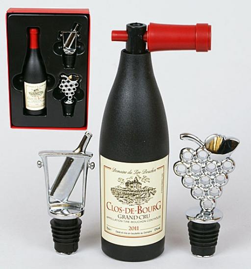Фото - Винный набор Бутылка с штопорами купить в киеве на подарок, цена, отзывы
