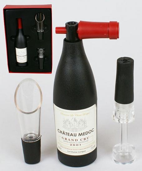 Фото - Винный набор Бутылка с лейкой купить в киеве на подарок, цена, отзывы