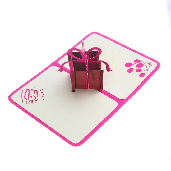 Фото - Объемная открытка Подарок фиолет купить в киеве на подарок, цена, отзывы