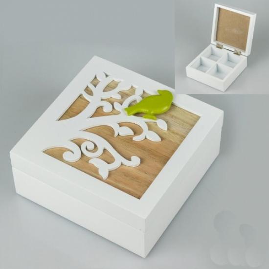 Фото - Деревянная шкатулка Птичка на ветке купить в киеве на подарок, цена, отзывы