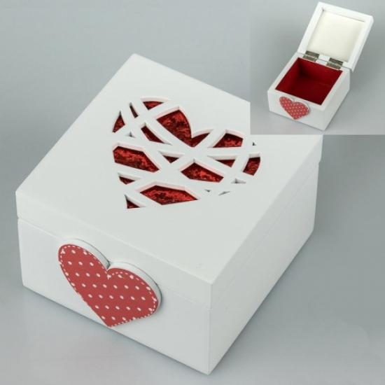 Фото - Деревянная шкатулка Сердце купить в киеве на подарок, цена, отзывы