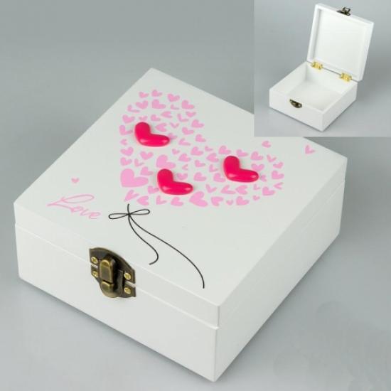 Фото - Деревянная шкатулка Люблю купить в киеве на подарок, цена, отзывы