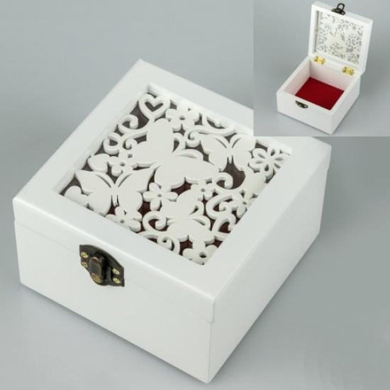 Фото - Деревянная шкатулка Бабочки мини купить в киеве на подарок, цена, отзывы