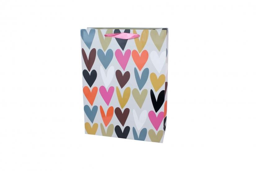 Фото - Подарочный пакет 35 см Сердце купить в киеве на подарок, цена, отзывы
