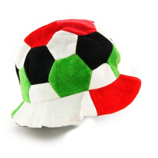 Фото - Шапка Футбольный мяч красно-зеленая купить в киеве на подарок, цена, отзывы