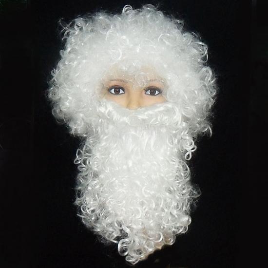 Фото - Набор Деда Мороза (парик+борода) купить в киеве на подарок, цена, отзывы