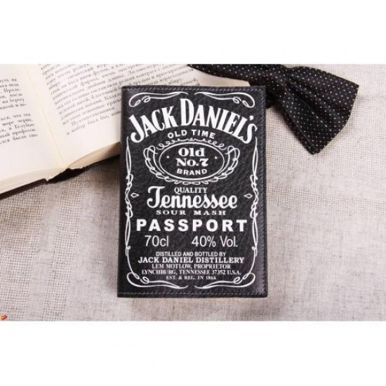 Фото - Обложка на паспорт Jack Daniels купить в киеве на подарок, цена, отзывы