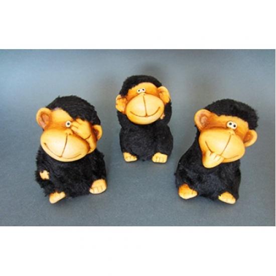 Фото - Керамические фигурки Обезьянки Черные купить в киеве на подарок, цена, отзывы