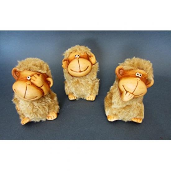Фото - Керамические фигурки Обезьянки Бежевые купить в киеве на подарок, цена, отзывы
