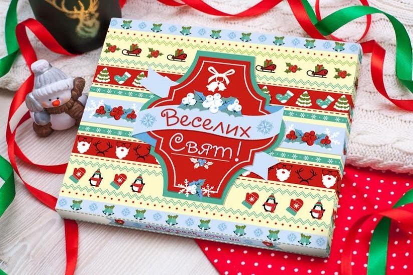 Фото - Шоколадный набор XL Веселих свят купить в киеве на подарок, цена, отзывы