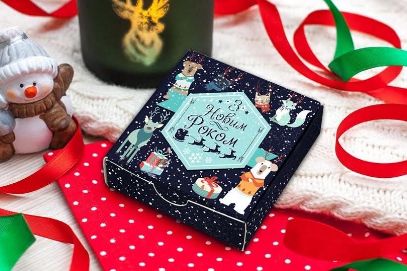 Фото - Шоколадный набор З Новым Роком купить в киеве на подарок, цена, отзывы