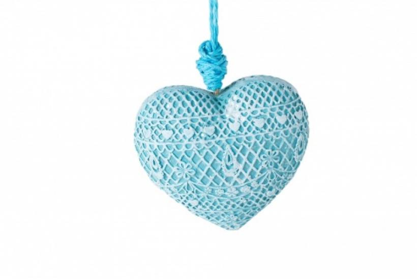 Фото - Декоративное украшение Сердце голубое купить в киеве на подарок, цена, отзывы