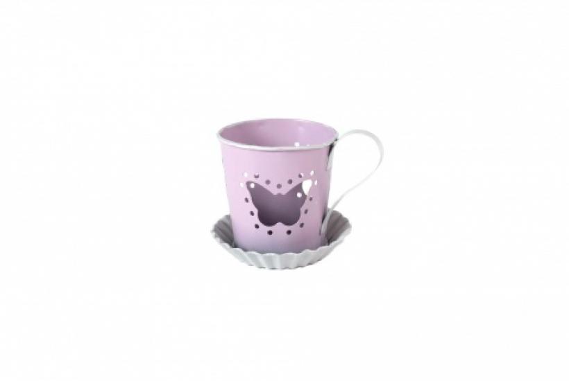 Фото - Подсвечник чашечка Бабочка купить в киеве на подарок, цена, отзывы