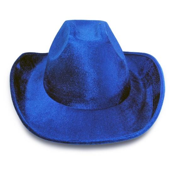 Фото - Шляпа Ковбоя велюровая (синяя) купить в киеве на подарок, цена, отзывы
