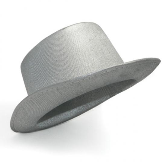 Фото - Шляпа Цилиндр серебряная купить в киеве на подарок, цена, отзывы