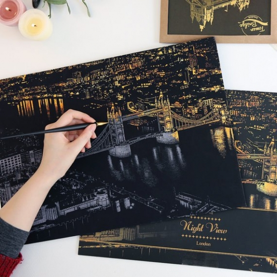 Фото - Скретч картина Лондон ночью купить в киеве на подарок, цена, отзывы