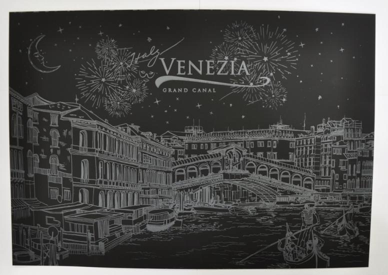Фото - Скретч картина Венеция ночью купить в киеве на подарок, цена, отзывы