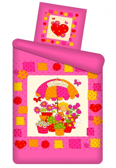 Фото - Комплект детского постельного белья Цветочный магазин купить в киеве на подарок, цена, отзывы