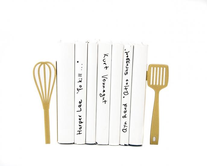 Фото - Держатель для книг Венчик и лопатка золото купить в киеве на подарок, цена, отзывы