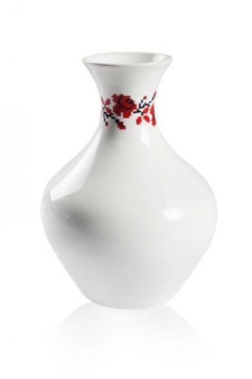 Фото - Глянцевая ваза с розой купить в киеве на подарок, цена, отзывы