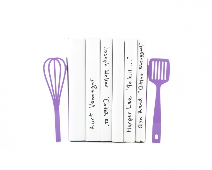 Фото - Держатель для книг венчик и лопатка фиолетовая купить в киеве на подарок, цена, отзывы