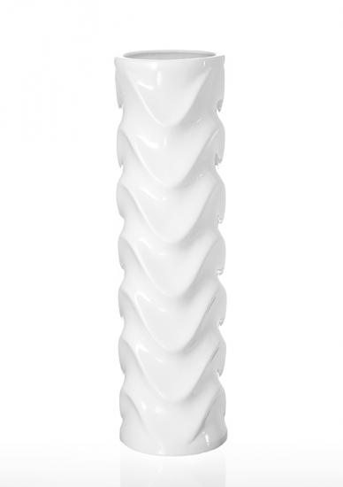 Фото - Ваза глянцевая Морская волна белая 45 см купить в киеве на подарок, цена, отзывы