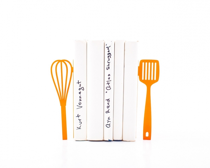 Фото - Держатель для книг Венчик и лопатка оранжевые купить в киеве на подарок, цена, отзывы