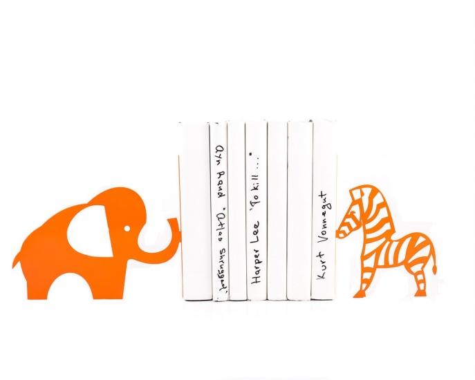 Фото - Держатель для книг Слон и зебра купить в киеве на подарок, цена, отзывы