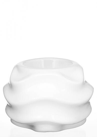 Фото - Подсвечник глянцевый Волна белый купить в киеве на подарок, цена, отзывы