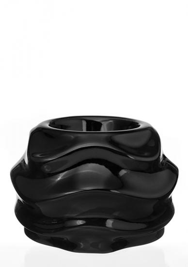 Фото - Подсвечник глянцевый Волна черный купить в киеве на подарок, цена, отзывы