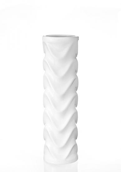 Фото - Ваза глянцевая Волна белая 36 см купить в киеве на подарок, цена, отзывы