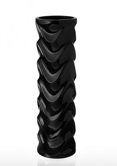 Фото - Ваза глянцевая Волна черная 36 см купить в киеве на подарок, цена, отзывы