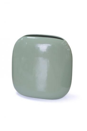 Фото - Ваза глянцевая квадратная зеленая купить в киеве на подарок, цена, отзывы