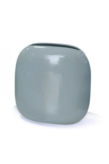 Фото - Ваза глянцевая квадратная голубая купить в киеве на подарок, цена, отзывы