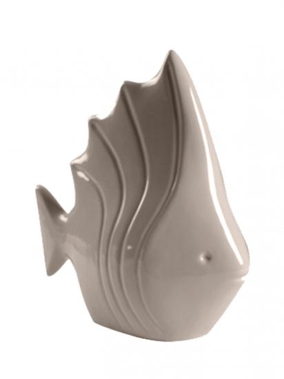 Фото - Статуэтка глянцевая Рыбка бежевая купить в киеве на подарок, цена, отзывы