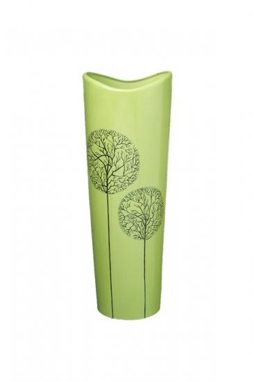 Фото - Ваза глянцевая Деревья зеленая 30 см купить в киеве на подарок, цена, отзывы