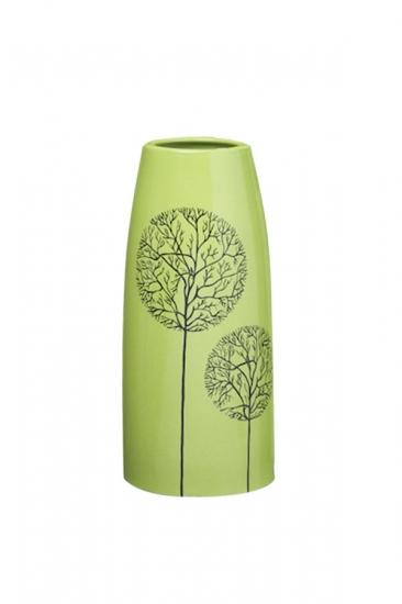 Фото - Декоративная ваза Деревья зеленая купить в киеве на подарок, цена, отзывы