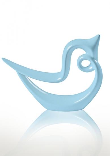 Фото - Статуэтка глянцевая Гордая птица голубая купить в киеве на подарок, цена, отзывы