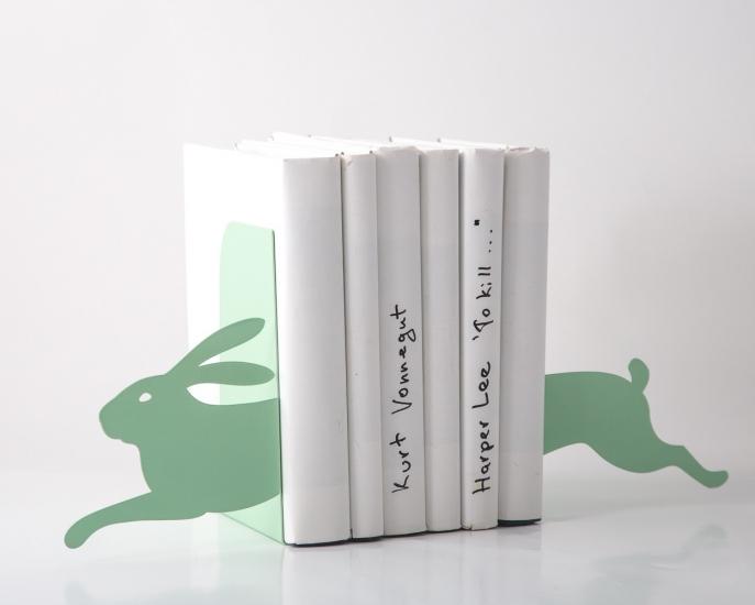 Фото - Держатель для книг Бегущий заяц мятный купить в киеве на подарок, цена, отзывы