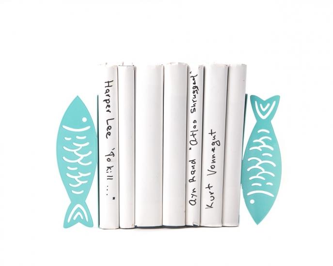 Фото - Держатель для книг Рыбы цветло-бирюзовые купить в киеве на подарок, цена, отзывы