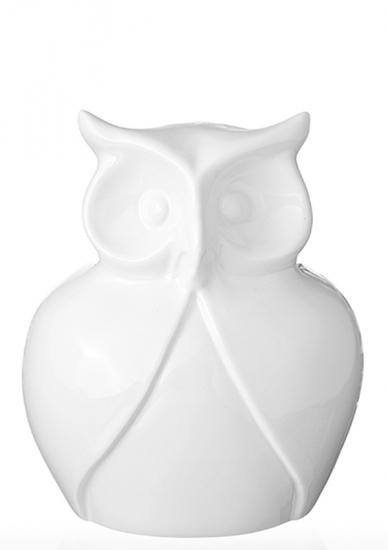 Фото - Статуэтка глянцевая Сова белая мини купить в киеве на подарок, цена, отзывы