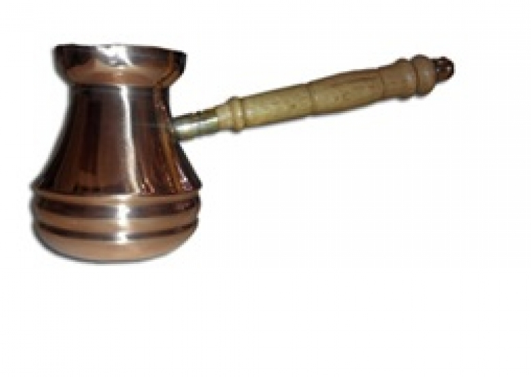 Фото - Турка медная цельнокатанная Джаз 170 мл купить в киеве на подарок, цена, отзывы