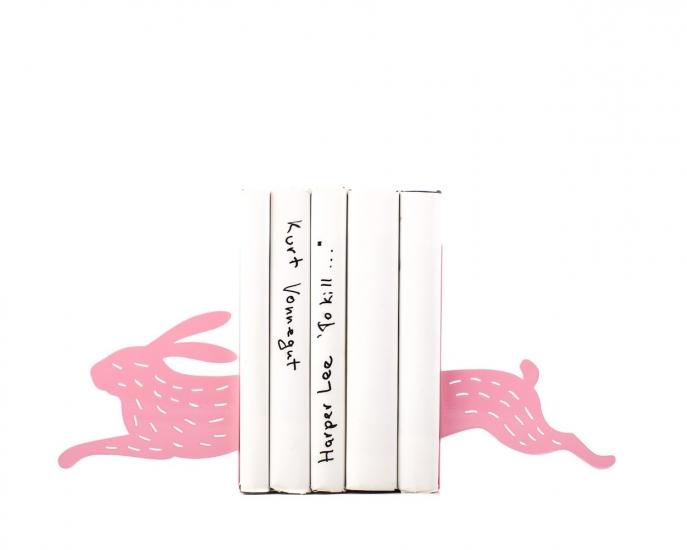 Фото - Держатель для книг Бегущий заяц розовый купить в киеве на подарок, цена, отзывы